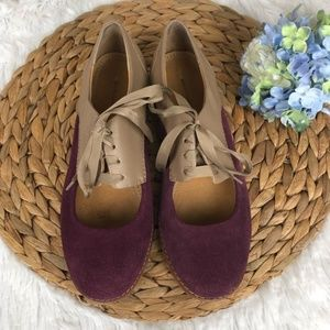 Anthropologie Olivia Cutout Oxford Shoes 7.5